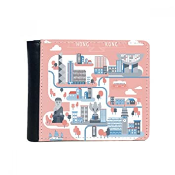 Amazon.com: Hong Kong Famous Places Flip Bifold Faux Leather Wallet Multi-Function Card Purse Gift: diythinker