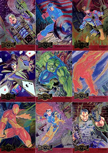 MARVEL METAL 1995 FLEER COMPLETE METAL BLASTER INSERT CHASE CARD SET 1 TO 18