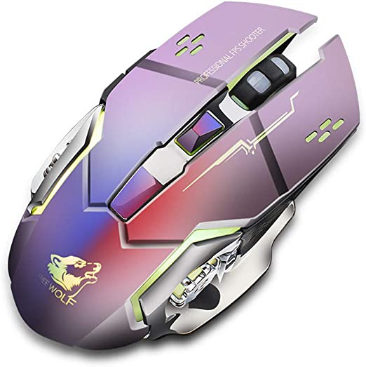 USB Rechargeable Wireless Silent LED Backlit Optical Ergonomic Gaming Mouse Mice