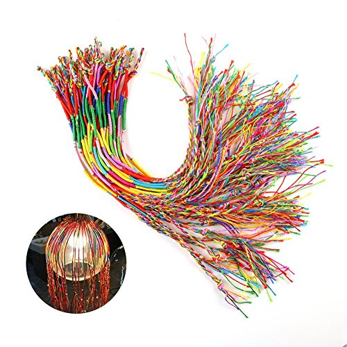 50 ASSORTED CORDED BRACELETS