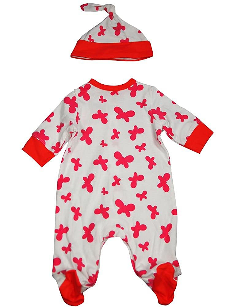 Baby Girls Long Sleeve Coverall and Hat Offspring