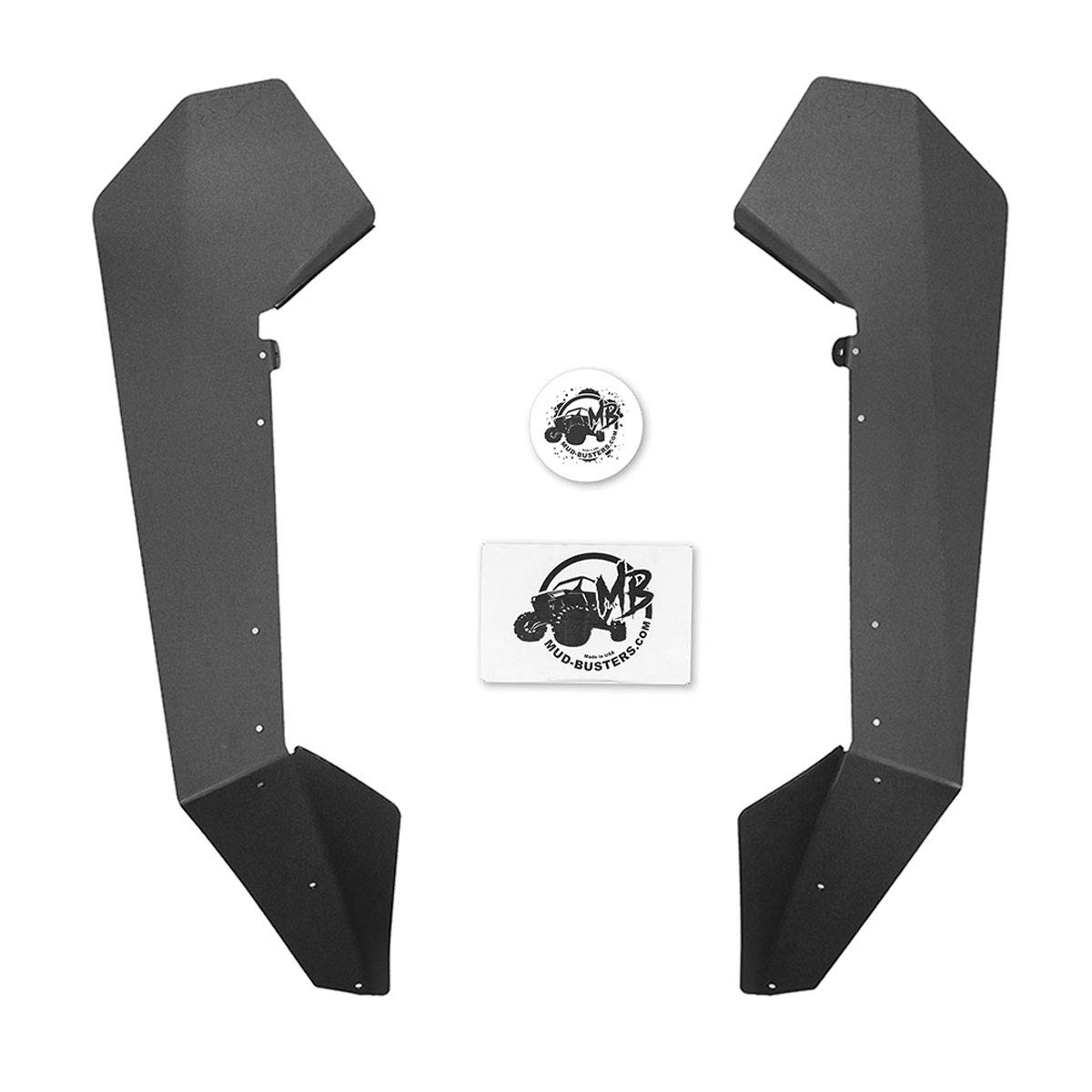 Complete Kit MudBusters Max Coverage Rear and Front Fender Flares with Hardware for 2020 Polaris RZR XP-Pro