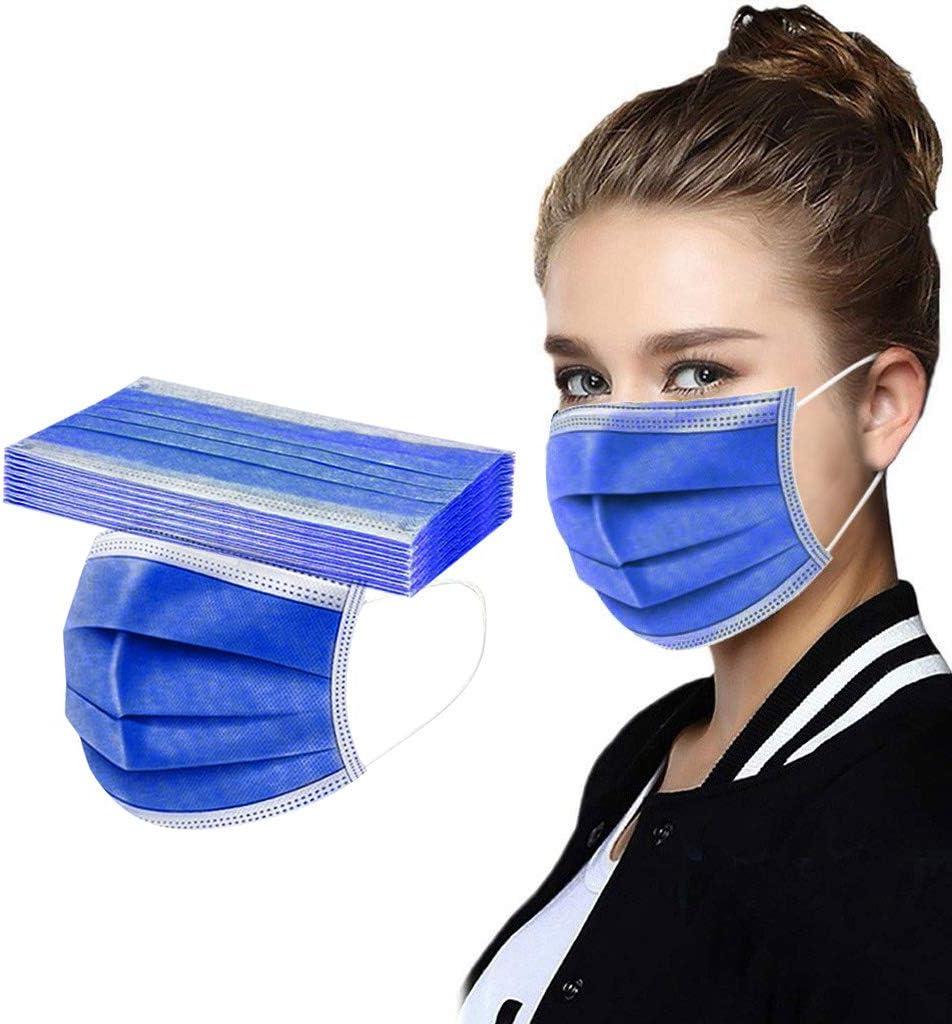 A Erwachsene 50 St/ücke Einweg Mundschutz Mund Nasenschutz Mit 3 Lagig Anti-Staub Atmungsaktiv Mund-Tuch Bandana Halstuch Schals f/ür Damen M/änner N