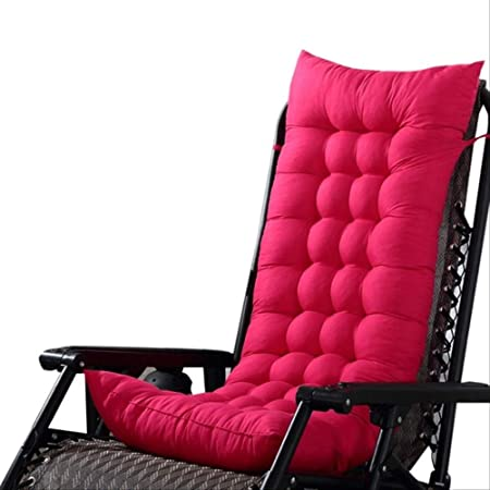 AINIYUE Fundas de Cojines, Cojín reclinable de jardín Grueso, Colchoneta Plegable Suave, Chaise Longue para sofá Cama 125x48cm Rojo: Amazon.es: Hogar