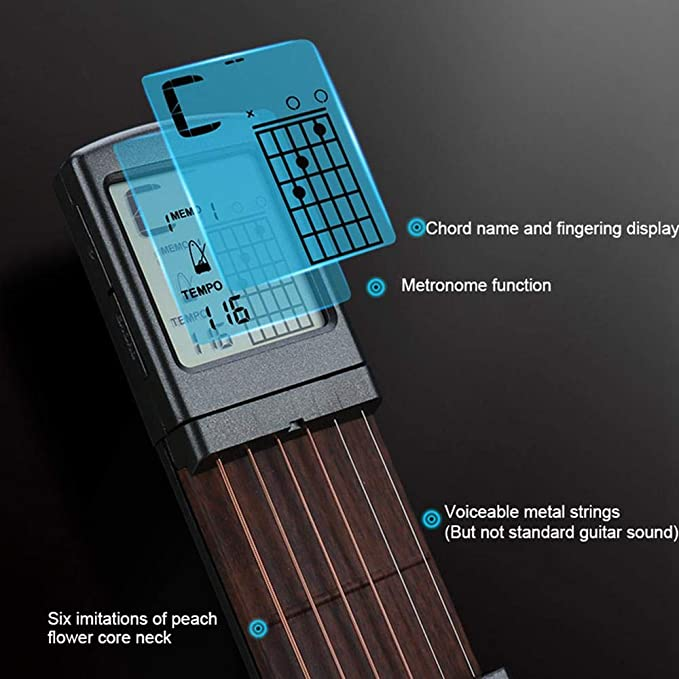 Balai Pocket Mini Guitar Chord Trainer Tool Portable Mini 6 Fret ...