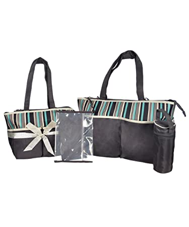 """d4f4db0dca Image Unavailable. Image not available for. Color: Babyboom  """"Stripes"""" 5-Piece Diaper Bag Set ..."""