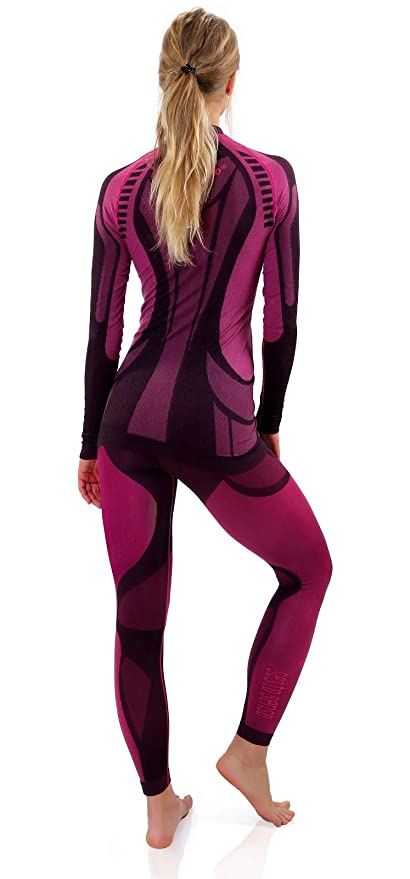 77cfb53c43 Sesto Senso® Conjunto Térmico Mujer Ropa Interior Térmica de Manga Larga  Camisa y Calzoncillos Largos Pantalones Leggins Termo Activo Set   Amazon.es  Ropa y ...