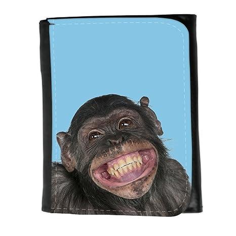 Cartera para hombre // Q05620609 gran sonrisa Bebe azul // Small Size Wallet