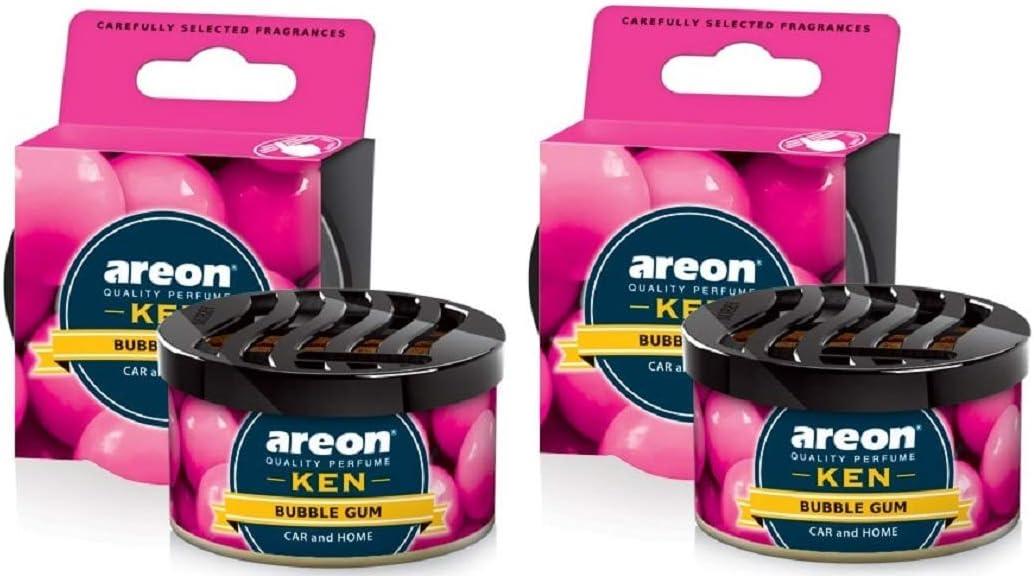 Areon Ken Auto Duft Bubble Gum Autoduft Dose Lufterfrischer Kaugummi Duftdose Wohnung Erfrischer 3d Set Bubblegum Pack X 2 Auto