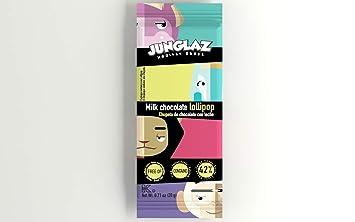 Zisnella - 0.71Oz JUNGLAZ MILK CHOCOLATE MONKEY LOLLIPOPS 12-Pack - 42% Extra