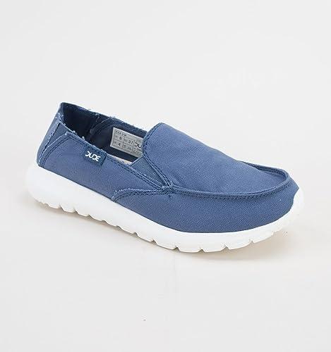 Dude Shoes Women's Ava Stripes Blue Slip On / Mule UK3 / EU36 H0Vfq