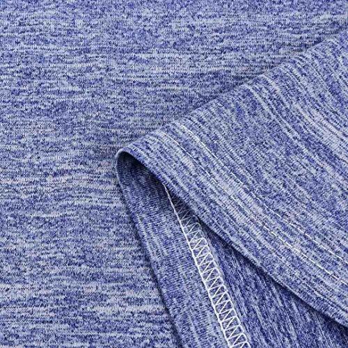 T Manches Raglan La chemisier Taille Bleu Des Blouse Plus Bleu Courte À Taille Femmes Mode Challeng shirt sexy De gris Grande Violet Longues Ozwd4qvF4x