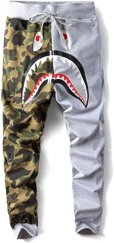 *Japan BAPE A Bathing Ape Shark Head Camo Sweatpants Men/'s Casual Jogging Pants