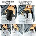 ComfortTac Concealed Carry Holster   Carry Inside The Waistband IWB or Outside The Waistband OWB   Size 3 Fits Glock 26, 27, 30, 43, M&P Shield 9mm.40.45 Auto, Ruger LC9, LC380, and Similar Guns