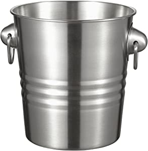 Stainless Steel Ice Bucket - Keeps Ice Cold and Dry, Great for Home Bar, Use as Champagne Bucket, Wine Chiller or Beer Holder, Durable Ice Bucket, Perfect for Camping, Parties and Picnics - 3.8 Liter