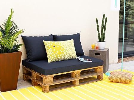 Jardin Prive Kit 3 Coussins Pour Palette Noir Gris Amazon Fr Jardin