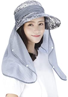 ddb544ea7e1 JINTN Womens Fishing Hat 360°UV Protection Sun Hat Large Brim Foldable UPF  50+