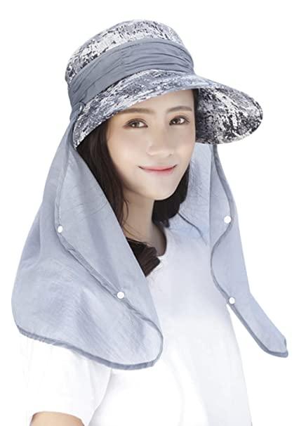 JINTN Womens Fishing Hat 360°UV Protection Sun Hat Large Brim Foldable UPF  50+ 1f56525aee1