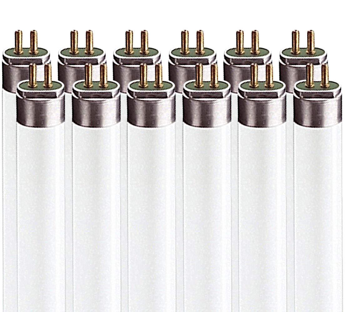 Luxrite LR20775 (12-Pack) F54T5/835/HO 54-Watt 4 FT T5 High Output Fluorescent Tube Light Bulb, Natural 3500K, 4200 Lumens, G5 Mini Bi-Pin Base
