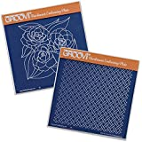 Roses & Trellis Groovi Plate Set (Set of 2) by Claritystamp