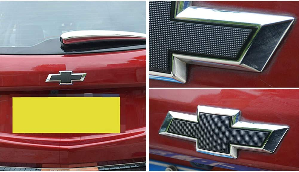 GEERUI Compatible with Front /& Rear Black Bowtie Emblems,Steering Wheel Emblems for Chevrolet Equinox 2017-2020 Front /& Rear