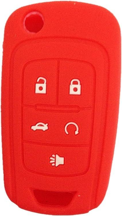 Silicone Key Case Fob For Chevrolet Cruze Malibu Spark Sonic Impala Equinox Volt