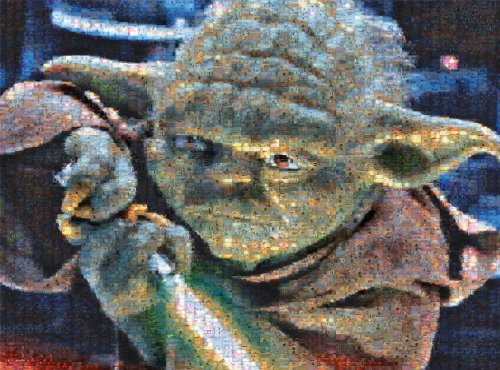 Star Wars - Photomosiac - Yoda - 1000 Piece Jigsaw Puzzle by Buffalo Games