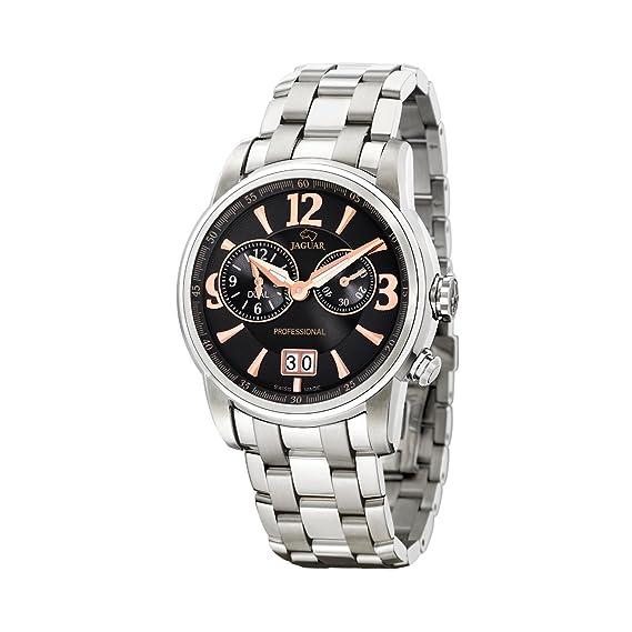 Jaguar 618/5 - Reloj de caballero de cuarzo, correa de acero inoxidable color