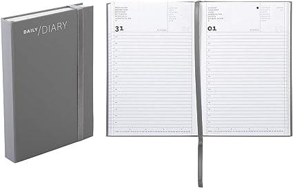 Agenda 2020 giornaliera formato 11 /× 16,5 cm colore antracite