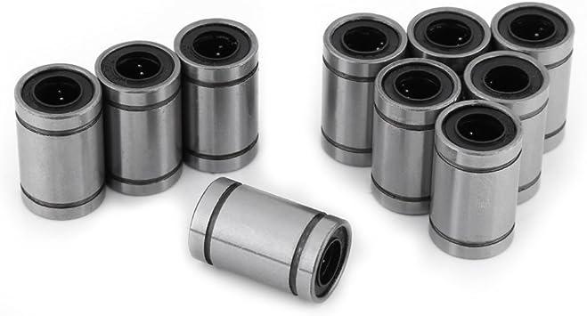 10 unids LM8UU 8mm Rodamiento de Bolas Lineal Doble Sellado Buje ...