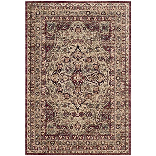 Lavar Cream (Safavieh Lavar Kerman Collection LVK601B Traditional Cream and Red Cotton Area Rug (4' x 6') (4' x)