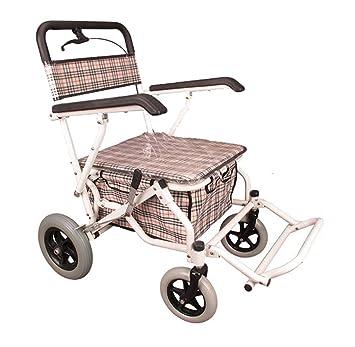 Andador de hierro blanco Colores Walker plegable con ruedas ...