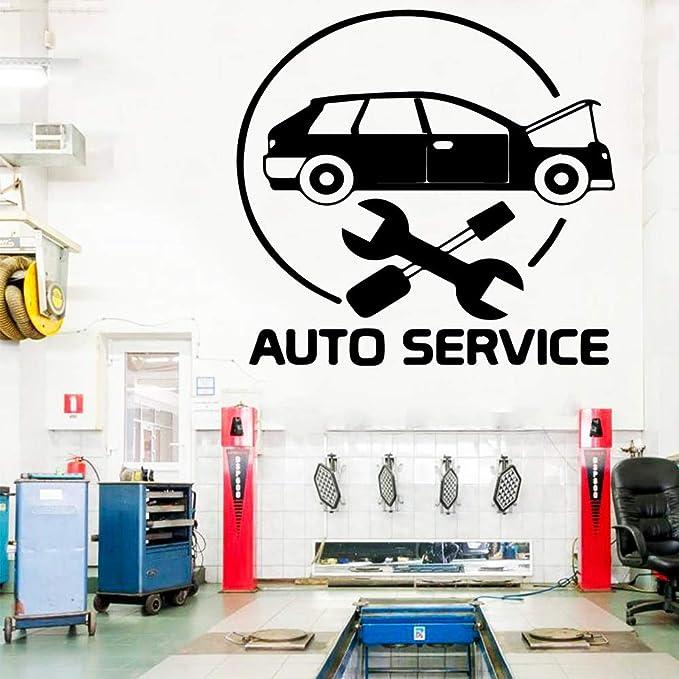 WSLIUXU Servicio de belleza del coche Etiqueta de la pared Vinilo ...