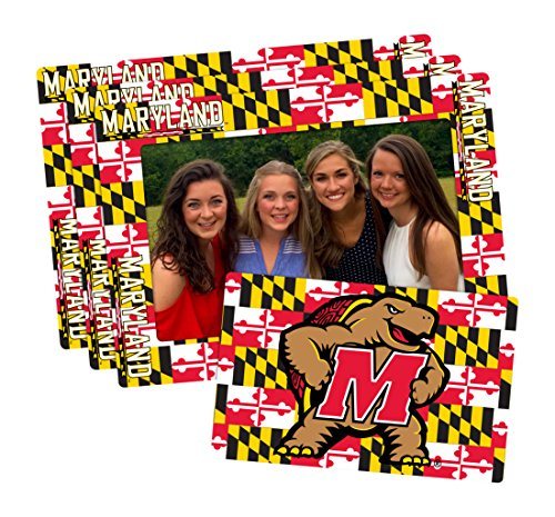 Worthy Promotional NCAA Maryland Terrapins 4-inch by 6-inch Magnetic Frame Plus Bonus Magnet, Red, Yellow, 3 Pack