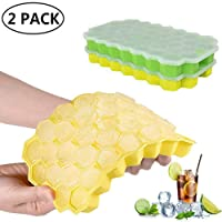 Farielyn-X Ice Cube Trays,2 Pack Food Grade Silicone Rubber Flexible and BPA Free...