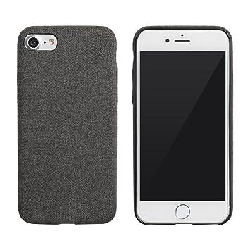 04124759f4 【design mobile】iPhone8 / iPhone7 ケース ダークグレー 黒 灰 「TwilledFablic ツウィルドファブリック
