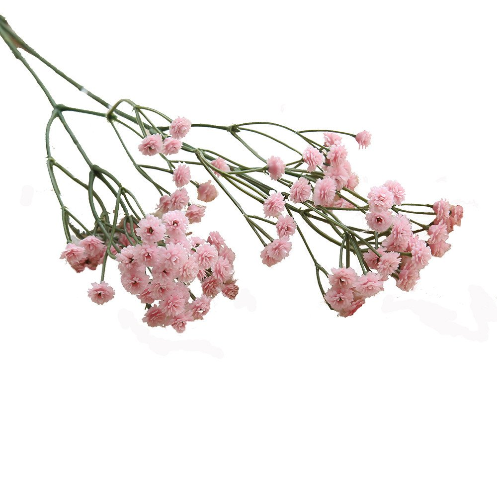 7c77b52c56530d Amazon.com: Birdfly Artificial Silk Fake Starry Sky Flowers Baby's Breath  Floral Wedding Bouquet Party Decors (Pink): Computers & Accessories