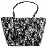 GUESS Women's Delaney Small Classic Tote Black Multi Handbag