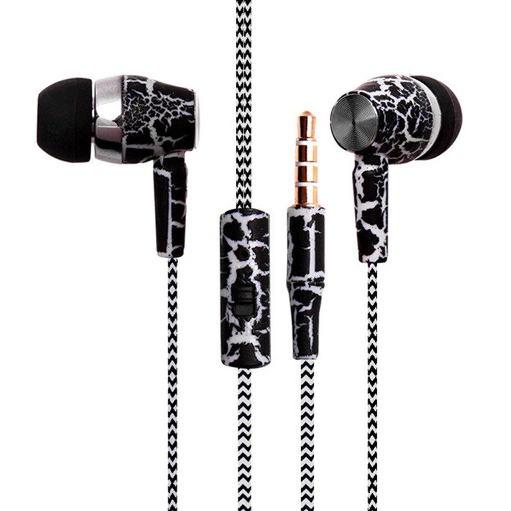 iPod iPad reproductores MP3 potentes auriculares de sonido est/éreo para iPhone Samsung Hinmay Auriculares con rosca auriculares con micr/ófono trenzado 3 en 1