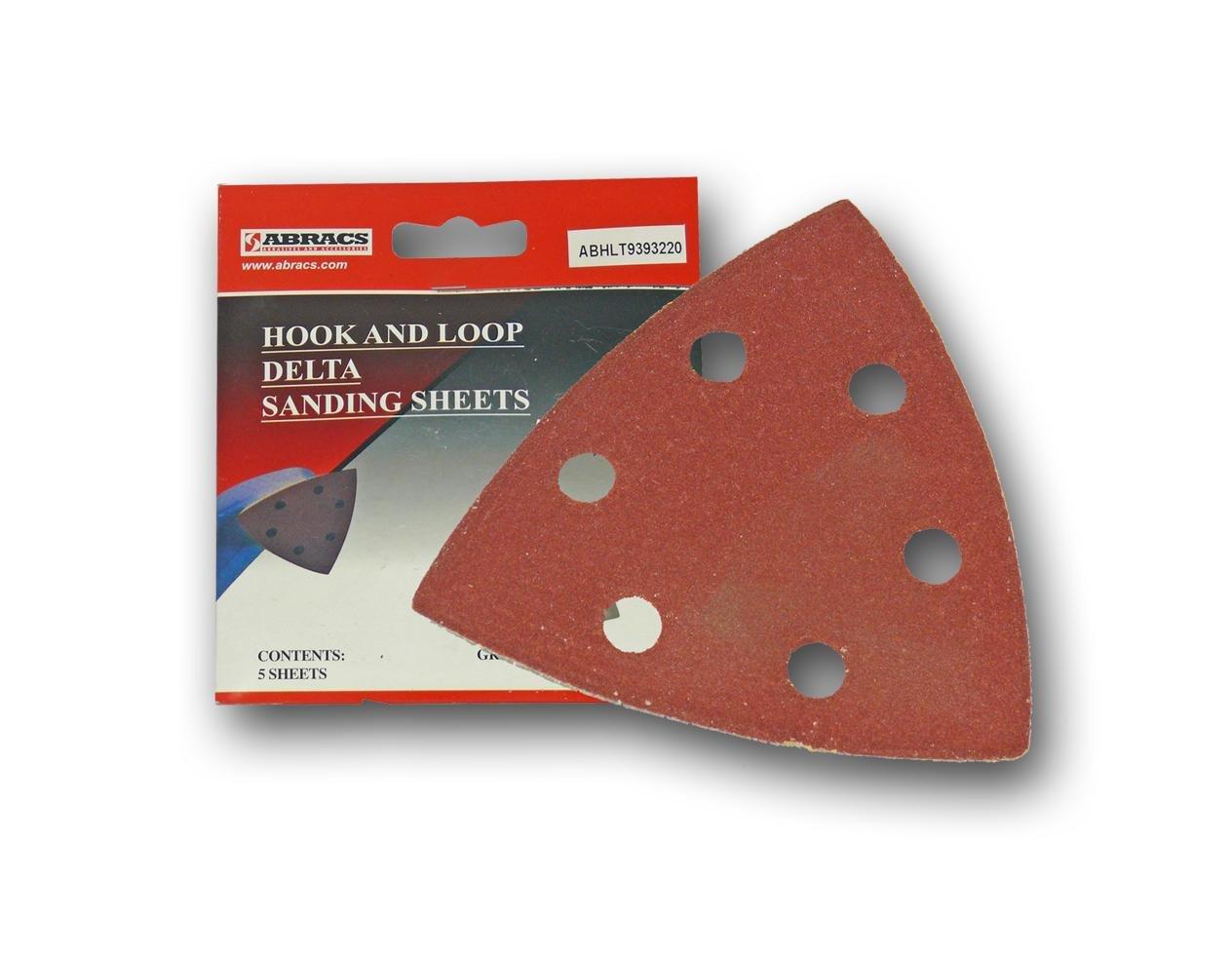Abracs 93 x 93mm x 80g Hook and Loop Delta Sanding Disc (50 Pieces) HLT939308050