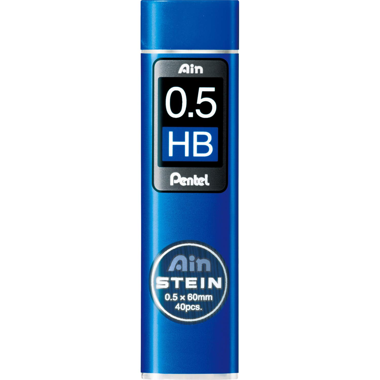 Pentel Ain Stein Mechanical Pencil Lead, 0.5mm HB, 40 Leads