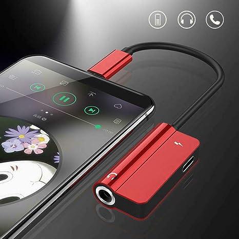 SAMTITY Adaptador de Cargador y Conector de Auriculares Adaptador de Cargador de Auriculares Adaptador de Conector Lightning a Auriculares de 3,5 mm para iPhone