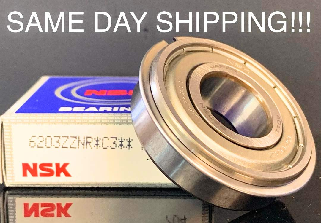 NSK 6205ZZNR Ball Bearing with snap Ring Groove a snap Ring Same Day Shipping