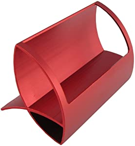 CellCase Desktop Innovative/Creative Q Shape Stainless Steel Business Name Card Holder (Red)