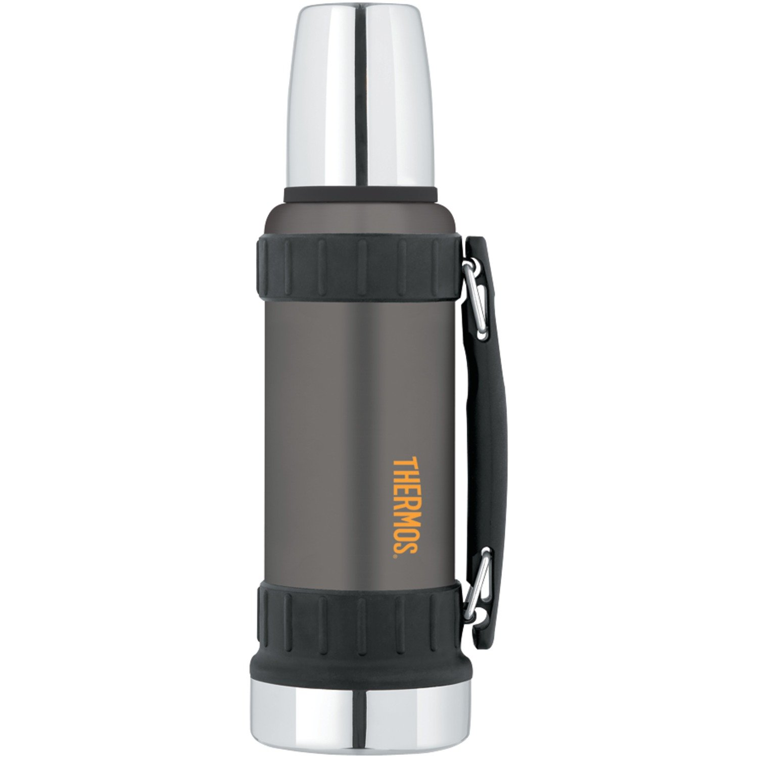 Best Rated In Lunch Boxes Bags Helpful Customer Reviews Thermos Mini Carakter 500 Ml Work Series 40 Ounce Beverage Bottle Gunmetal Gray Product Image