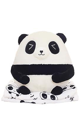 bettomo 2017 de los niños amante panda almohada de peluche y manta de almohada fundas de