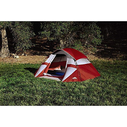 Northwest Territory Red Sierra Dome Tent 9x7 - Sleeps up to 3 - Waterproof - Carry - Dome 7 Sleeps