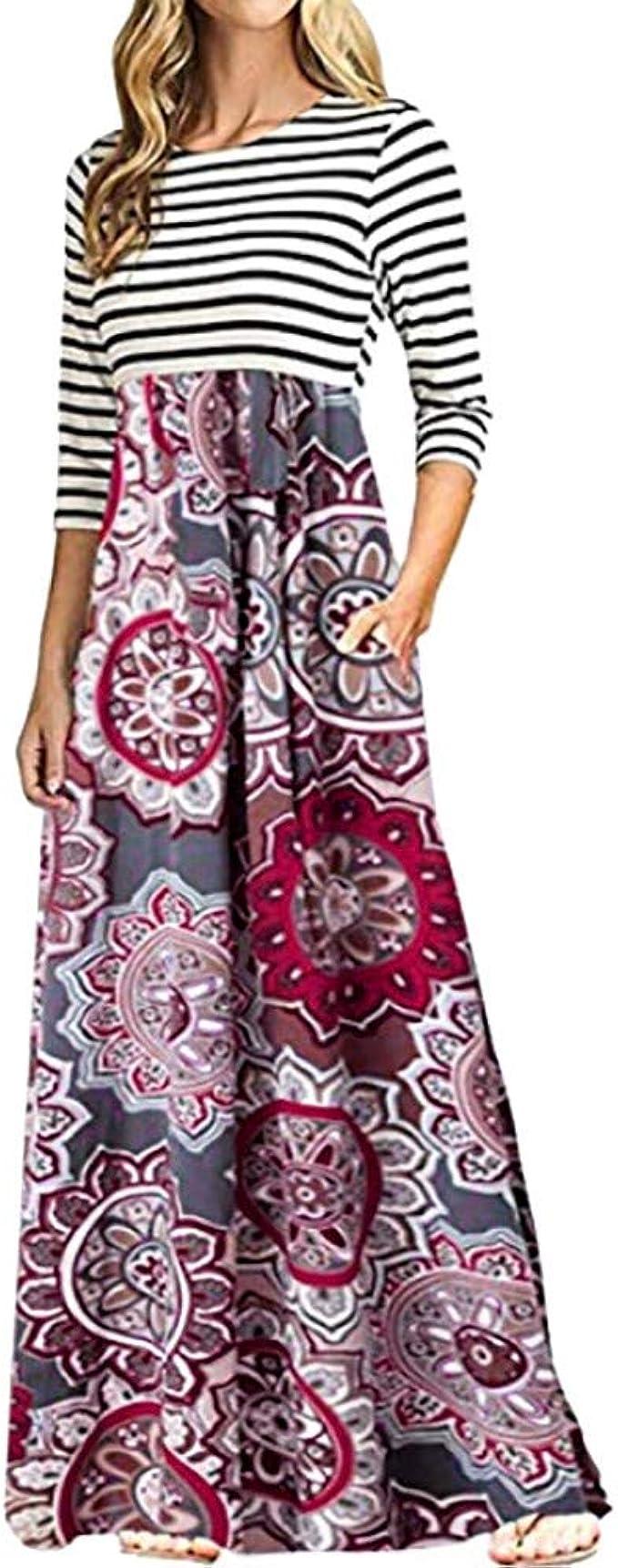 SamMoSon Damen Elegant Kleider Sommerkleid Retro Rockabilly