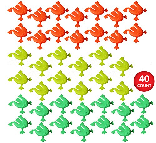 Jumping Frogs, Pack of 40, Party Favor Value Pack ()