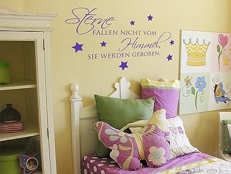 GRAZDesign Wandsticker Kinderzimmer Junge/Mädchen Spruch über Geburt -  Sprüche Zur Geburt Wandtattoo Schriftzug - Wandtattoo Babyzimmer / 103x57cm  / ...